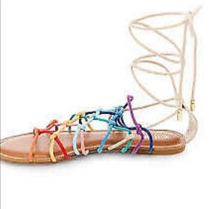 Mossimo multi color tie up sandal.
